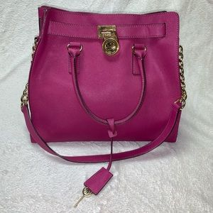 LG Hamilton tote bag Peony Pink color
